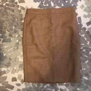 Jcrew PETITE wool number 2 pencil skirt
